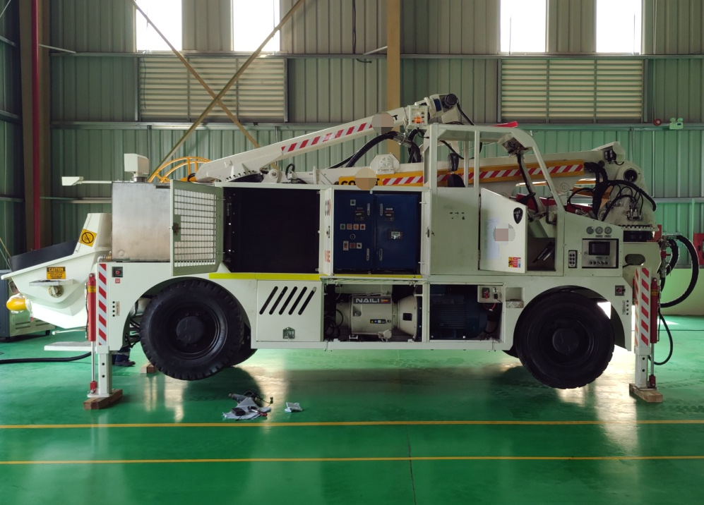 NAILI Vane compressor 55kw used for Concrete shot machine in Mining application