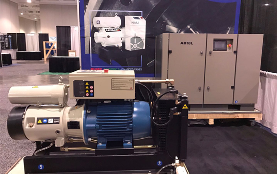 NAILI Vane compressor showed on BP Expo in USA