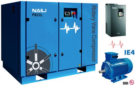 NAILI PA/PB series Energy saving type rotary vane compressor