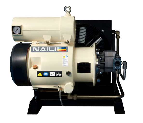 New AH series Hydraulic driven Rotary Vane Compressors Synchronized
